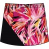 Bias Skort - Paintbrush Pink with Black
