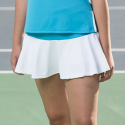 Flounce Skort - Turquoise Geometric with White