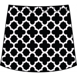 Sporty Skort - Black/White Medallion