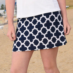 Sporty Skort - Navy Medallion
