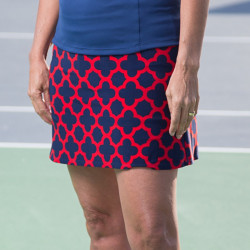Sporty Skort - Navy/Red Medallion