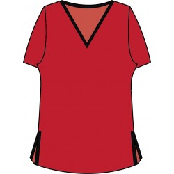 Short Sleeve Tee - Red with Black Trim