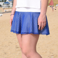 Flounce Skort - Cobalt Lace with White Top