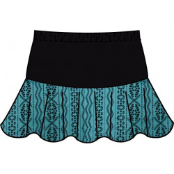 Flounce Skort - Turquoise Lace with Black Top