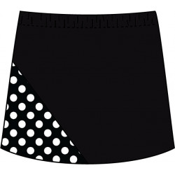 Bias Skort - Black with BW Mini Dot