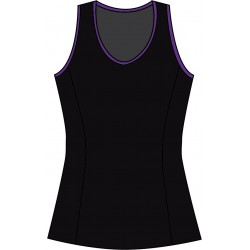 Scoop Neck Tank Top - Black Solid