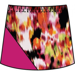 Bias Skort - Citrus Blast with Fuchsia