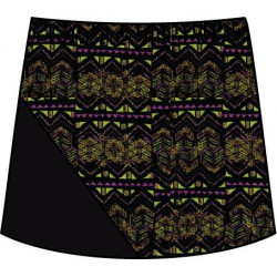 Bias Skort - Mardi Gras with Black