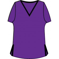 Short Sleeve Tee - Grape wiith Black Trim