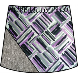 Bias Skort - Violet Crosshatch with Heather Gry