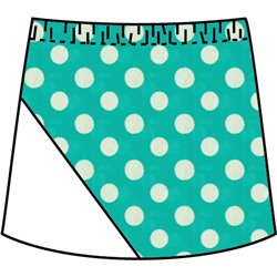 Bias Skort - Jade Dot with White