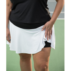 Flounce Skort - Black Top with White Flounce
