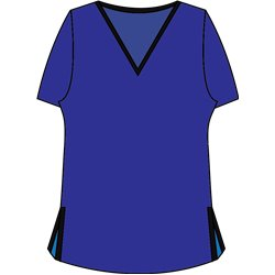 Short Sleeve Tee - Cobalt w/Black Trim