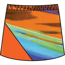 Bias Skort - Splish Splash with Tangerine