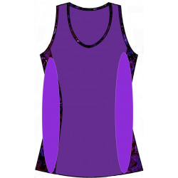 Scoop Neck Tank Top - Grape with Black Trim