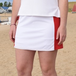 Slimming Panel Skort - Red and White