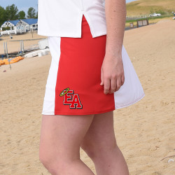 Slimming Panel Skort - East Angels Red and White with LOGO
