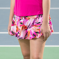 Flounce Skort - Paintbrush Pink all over print