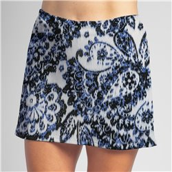 Sporty Skort - Denim Paisley