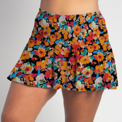 Flounce Skort - Poppy Power all over print