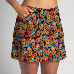 Golf/Walking Zipper Pocket Skort - Poppy Power