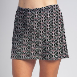 Sporty Skort - Red/Black Ikat Dot