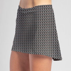 HiLo Skort - Red Black Ikat
