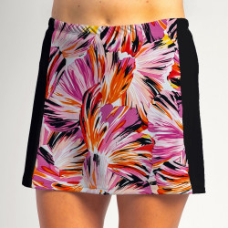 Slimming Panel Skort - Paintbrush Pink with Black side panels