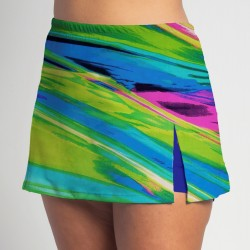 Side Slit Skort - Candy Crush - Cobalt Shorts