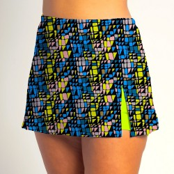 Side Slit Skort - Stained Glass - Neon Shorts