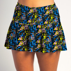 Flounce Skort - Stained Glass
