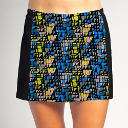 Slimming Panel Skort - Stained Glass w/ Black side panels