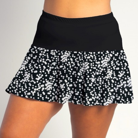 Flounce Skort - Scattered Dots w/Black Top