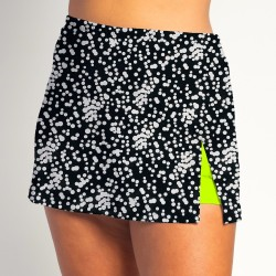 Side Slit Skort - Scattered Dots - Neon Shorts