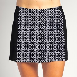 Slimming Panel Skort - Criss Cross with Black