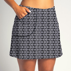 Golf/Walking Zipper Pocket Skort - Criss Cross