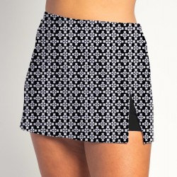 Side Slit Skort - Criss Cross - Black Shorts