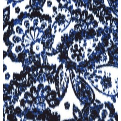 Denim Paisley fabric swatch