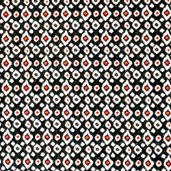 Red Black Ikat Dot fabric swatch
