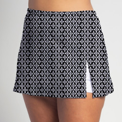 Side Slit Skort - Criss Cross - White Shorts