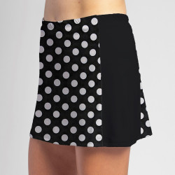 Slimming Panel Skort - BW Mini Dot with Black
