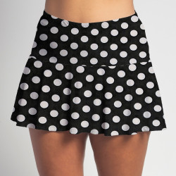 Flounce Skort - BW Mini Dot all over