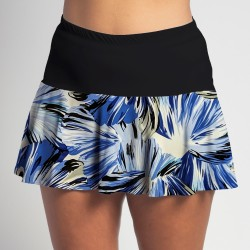 Flounce Skort - Forget Me Not Floral with Black Top