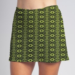 Sporty Skort - Lime Geometric
