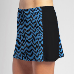 Slimming Panel Skort - Turquoise Black Attack w/ Black