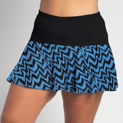 Flounce Skort -Turquoise Black Attack w/ Black Top