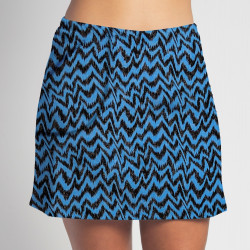 Golf/Walking Zipper Pocket Skort - Turquoise Black Attack
