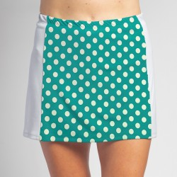 Slimming Panel Skort - Jade Dot with White