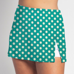 Side Slit Skort - Jade Dot