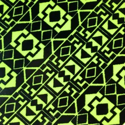 Lime Geometric fabric swatch